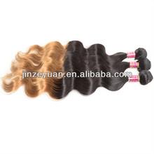 top sale two tone color 1B/27 brazilian ombre hair weave extension