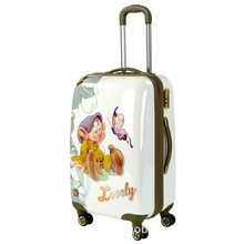 abs+pc color printing trolley luggage , travel suitcase set factory 2015
