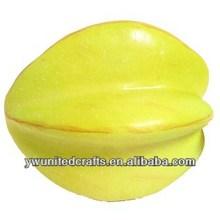 Realistic yellow starfruit carambola foam fruit realistic tropical fruit