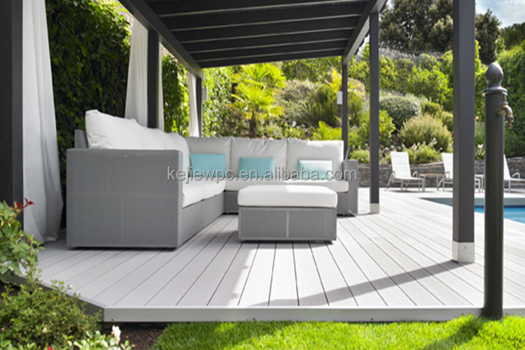 Terrace decking wood plastic composite decking outdoor for Cheap floor covering solutions