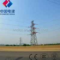 Electric transmission line steel tower