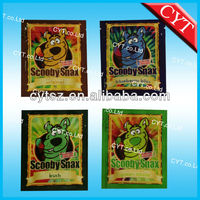 scooby snax spice herbal incense bag/Caution spice wholesale package bag