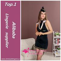 Multifunctional sexy air hostess fancy dress costume made in China