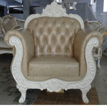 Classic Italian style living room furniture set luxury chesterfield white leather crystal sofa