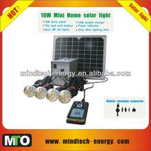 10W home solar panel kit high power solar lights solar lighting kit for home solar system