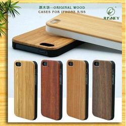 Engrave dye blank black wood phone case for iphone 6