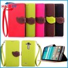 Pu leather elegant cover case for lg g4 with bracket for stand and card slot for id card