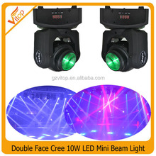 Popular Pixel /Dot Control 2X10W RGBW 4in1 Double Face Beam Moving Heads / RGBW Mini Beam Light