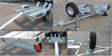 galvanized motorbike trailer