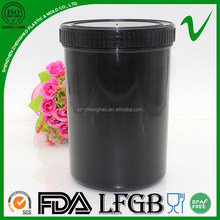 HDPE wholesale airless black empty plastic chemical bottle with wide mouth for chemical powder package