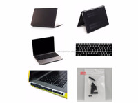 Rubberized hard case for Macbook Air 13'' with silicone keyboard protector and dust plugs