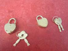 Manufacturer Supply Fancy Brass Color Heart Shape Mini Padlock For Notebook