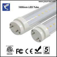 "Transparent T8 LED tube 72"" 72inch 28W led light AC85-265V 3000lm"