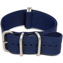 Nylon NATO Watch different Strap - Navy Blue (Matte Buckle),changeable watch strap