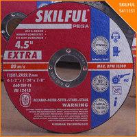 """SKILFUL 115X1X22mm 4.5"""" thin reinforced EN12413 cutting wheel cuting disk"""