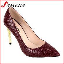 Pointed toe woman pumps new design high heel feminine shoes
