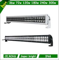 "240w 260w Jeep led driving light single dual row with adjustable mounts 40"" led light bar"