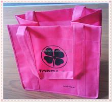 Reusable eco shopping bag pink, bulk reusable shopping bags, non woven shopping bag