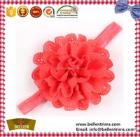 Newly Baby Hairbands Chiffon Flowers Elastic Headband