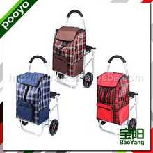 shopping cart bag fancy laminated shopping bag