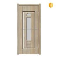 2015 Price New Design PVC MDF Wooden Interior Living Room Shower Glass Door Latest Simple Design Wooden Door For Classroom