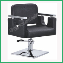 Portable Hair Styling Chair Modern Black Hairdressing Styling Beauty Chair