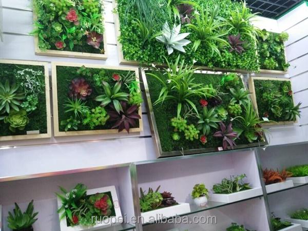 Hotselling Artificial Succulents Plants Plastic Wall Art