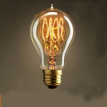 A19 25W/40W/60W 110V 220V Marconi Style Light Bulb Vintage Edison