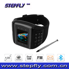 1.33 inch watch phone Dual SIM Standby Watch Mobile Phone with Camera