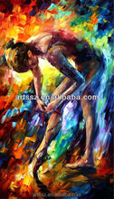 Home Decoration Portrait style oil painting with dancing men and women
