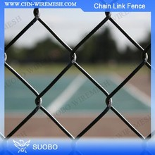 ISO9001 Chain Link Fence Prices Galvanized Fencing Black Rock For Landscaping