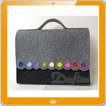 Recycled felt laptop bag long strap cross body laptop bag felt handbag