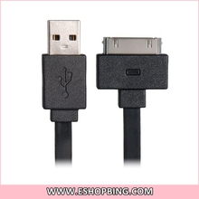 Letouch Charging & Data Transmission Flat Cable for iphoneiPadiPod Black