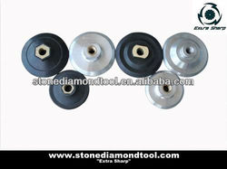 """3""""&4"""" Rubber and Aluminum Backer Pad with M14 thread"""