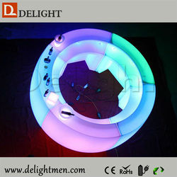 LED furniture hot sale outdoor ip65 glowing 16 color wireless control bar counter for sale use in bar and night club