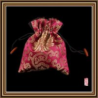 New hotsell drawstring satin wine pouch