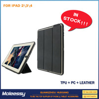 Simple Style guard leather stand case for ipad 5 for ipad 234