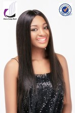 Wholesale unprocessed human hair wig , silk top lace front wig for black women
