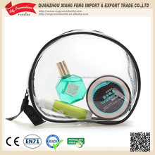 Non-toxic Transparent Round Zipper Cosmetic PVC Bag