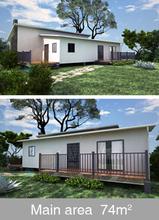 ECONOVA Prefabricated Modular ADU granny flat cottage with light steel 74 Square meters