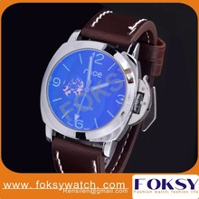 alibaba express brown leather automatic men watches