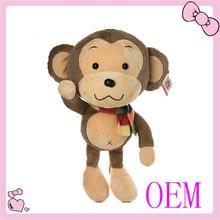 Wholesale brown soft toy children toy plush monkey toy