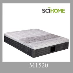bedroom furniture comfortable pillow top pocket spring mattress online shopping india