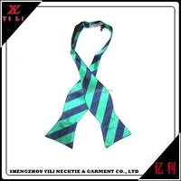 New design fashion cheap striped self tie bow ties