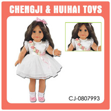 Shantou factory big baby toy american girl doll 18 inch