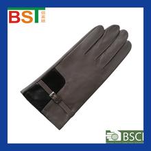 BST52245 TIANJIN BIOSUNTEX 100% sheepskin wholesale BSCI certlficate Daily Life using Ladies leather glove