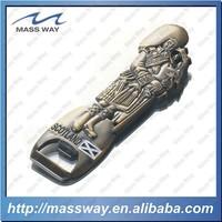 die casting 3D antique copper zinc alloy bottle opener