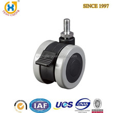 2.5-inch Dual Wheel chair leg casters with Brake