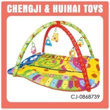Baby exercise crawling cotton carpet mat toys happy baby play mat with music