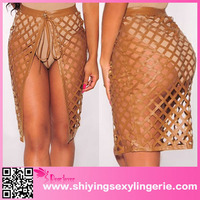 top selling wholesale sexy High quality transparent mini skirt